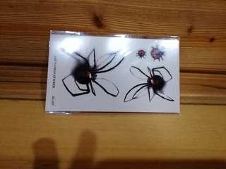 🚚 紋身貼紙-蜘蛛與瓢蟲