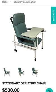 Height Adjustable Geriatric Chair with Tray
