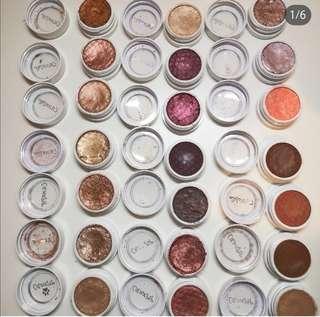 Colourpop eyeshadows