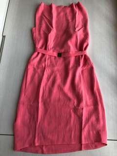 DVF 粉色連身裙 4碼