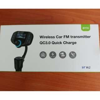 Wireless Car FM Transmitter for sale (Brand new)