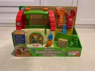 BNIB Leap Frog Scout's Build and Discover Tool Set