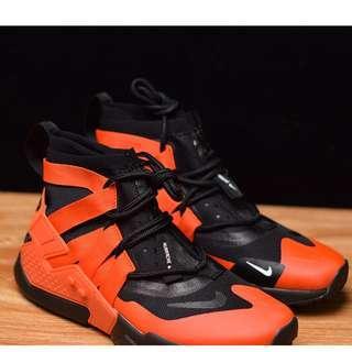 "Nike Air Huarache Gripp Sail華萊士漂移6代束腳拉鏈機能高幫運動慢跑鞋""桔紅黑"""
