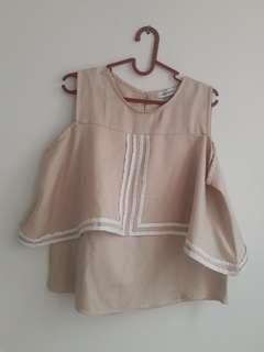 BLOUSE/ATASAN MAYOUTFIT CREME