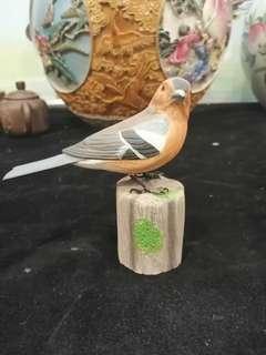 Handmade wooden bird carving