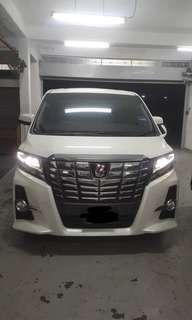 Toyota Alphard latest model for rent