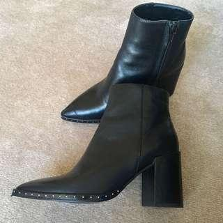 Like New Seed Heritage Studded Leather Ankle Boots