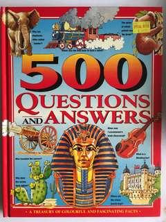 🚚 500 Questions and Answers Children's Reference Book