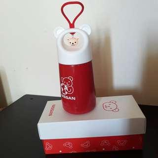 🚚 愛地熊保溫瓶/ 304不鏽鋼/ 手提式保溫瓶/造型可愛特別