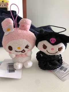 My Melody and Kuromi small plushie
