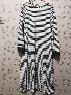 Long stripe dress garis-garis (rok garis-garis stripe)