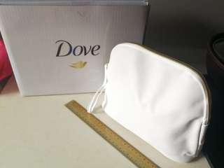 Dove Makeup / Toiletry White Pouch