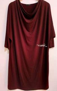 Dress Cheval Batwing Maroon