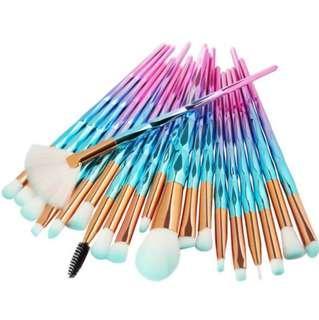 Makeup Brushes Set 20pcs Unicorn Gradient Colours