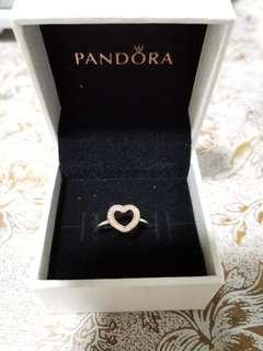 🚚 Pandora 14K Solid Gold Heart Ring