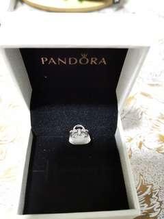 🚚 Pandora Sparkling Bow Bag Charm