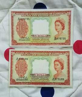 $10 malaya queen elizabeth
