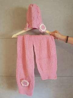 全新❤兒童遮耳針織毛帽圍巾組