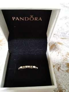 🚚 Pandora 14K Solid Gold Two Tone Ring