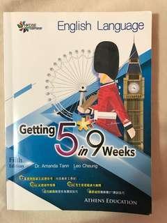 [66折] DSE 英文 English Getting 5** in 9 weeks 9星期溫習計劃 [送2019英文試題原件1張]