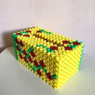 🚚 Beaded Tissue Box