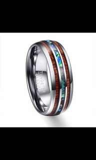 Tungsten Carbide Matt Crystal Ring