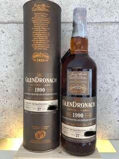 GlenDronach 1990  27 Years Old Single Cask  52.2%abv