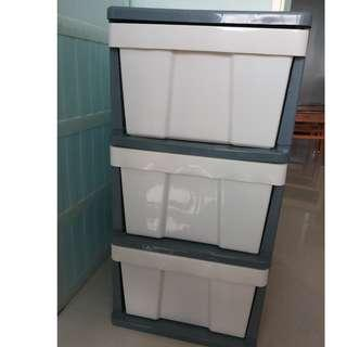 Plastic Cabinet for sale (Grey and white) for sale