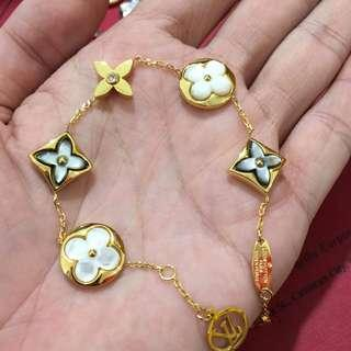 LV mono set with necklace bracelet earings