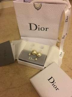 DIOR TRIBALES EARRINGS經典不對稱雙珍珠耳環(with original receipt)