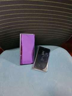 🚚 Clear View Standing Cover for Samsung Note 8 Case (Purple)
