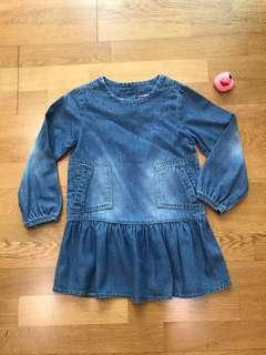 High End Denim Girl Dress