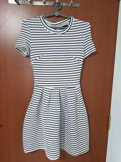 MDS Striped Skater Dress