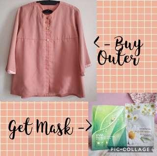 Buy 1 get 1 - Blazer Outer Peach Zoya get Sheet Mask