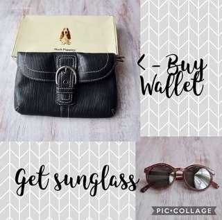 Buy 1 get 1 - Wallet Hush Puppies get Sunglass Minisoo