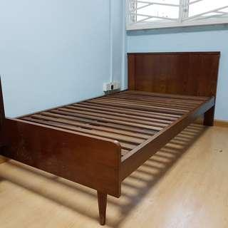 Old Solid Wood Bed Frame