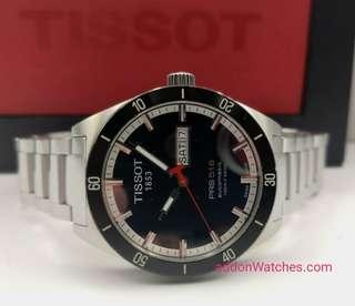 Tissot PRS516 Day Date Blue Automatic Watch