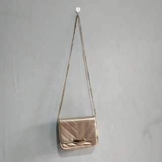 Gold Chain Sling Bag