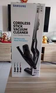 Seal set with warranty Samsung Cordless Vacuum Cleaner model : power stick VS 6000 Essential colour :Neon red