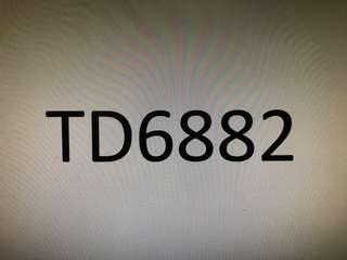 幸運車牌 TD6882 Lucky Car Plate