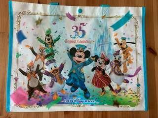 東京迪士尼35周年紀念購物袋