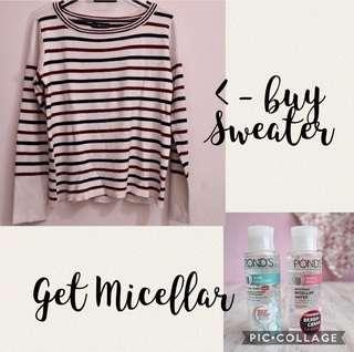 Buy 1 get 1 - Sweater Zara Thick get Micellar Water