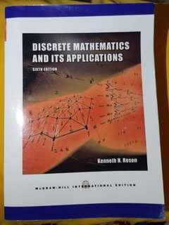 Discrete Mathematics and Its Applications 6th Edition by Kenneth H. Rosen