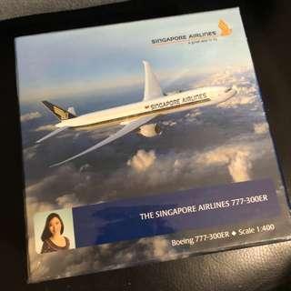 新加坡航空 Boeing 777-300ER 飛機模型 1:400 全新未開封