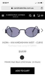 Kim Kardashian x Carolina Lemke Berlin Indra Sunglasses