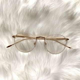 White & Gold Round Sunglasses