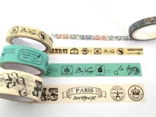 Vintage decorative tapes