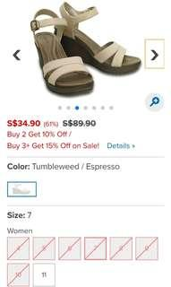 Authentic Crocs Women's Leigh II Ankle Strap Wedge