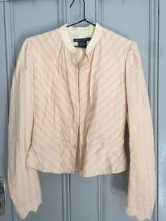 Rare Vintage Ralph Lauren Collection Silk and Linen Blazer