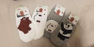 We bare bears ankle socks